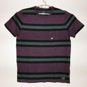 Abercrombie & Fitch Striped Pocket Tee Purple XL